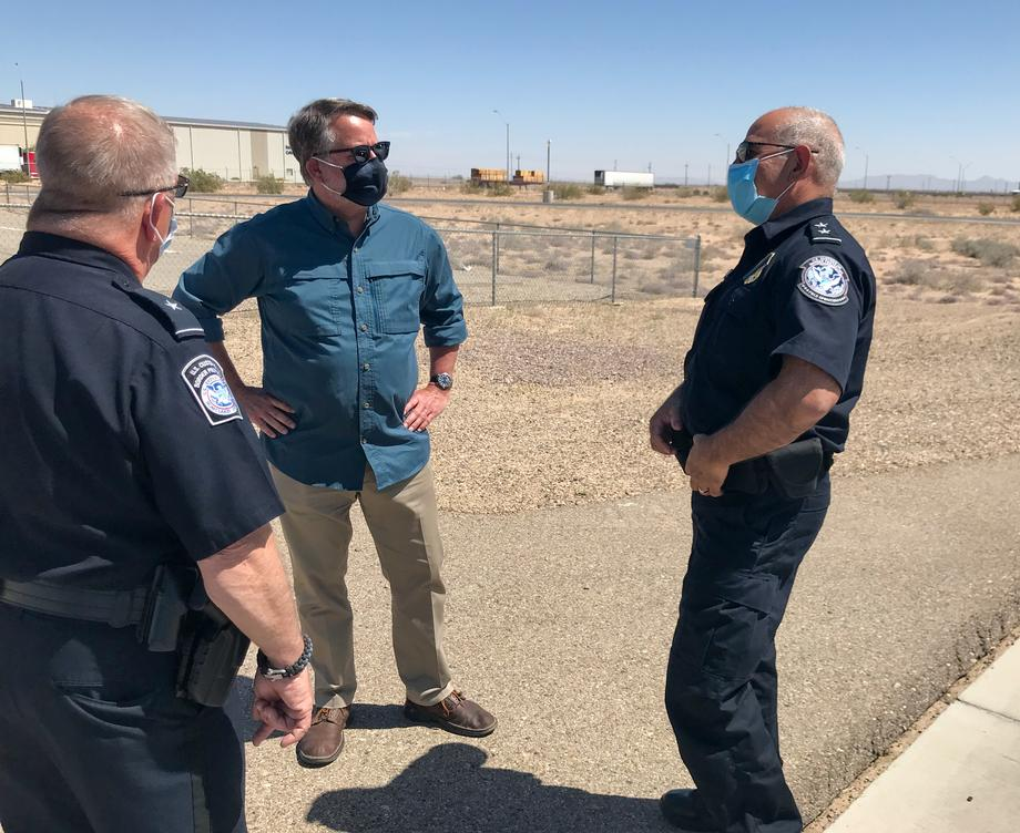 Peters Visits the Southern Border